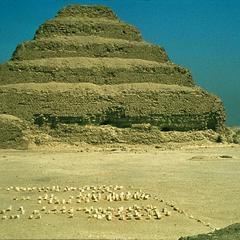 Step Pyramid of King Zozer of the Third Dynasty (2668-2649 B.C.) at Saqqarah