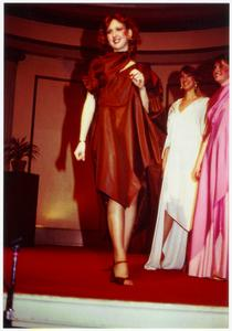 Three models on stage