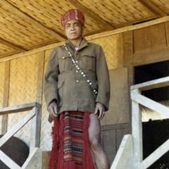 A Nyaheun leader in traditional dress in Attapu Province