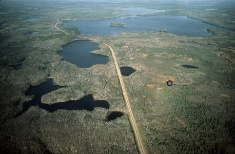 Aerial photo of North Temperate Lakes Long Term Ecological Research (LTER) lakes (1)