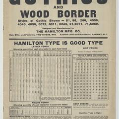 Gothics and wood border