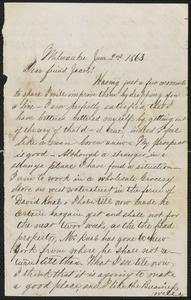 [Letter from unknown author to Jakob Sternberger, June 2, 1863]