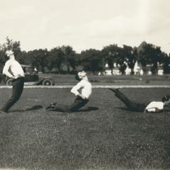 Men's gymnastics tumbling stunt