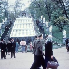 Chessboard Hill Cascade in the Peterhof grounds