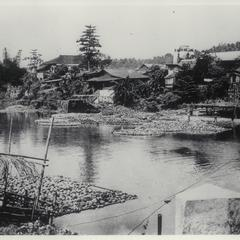 Coconut market, Pagsanjan River, 1927