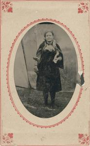 Woman circus performer with snake