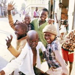 Boys Posing on the Streets of Banjul