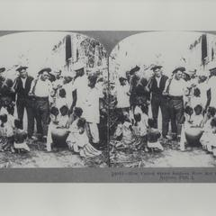 U.S. soldiers intermingle with local Filipinos, 1899-1902