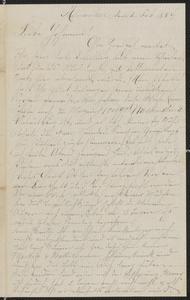 [Letter from Julie Sternberger to Johanna, February 21, 1884]