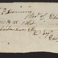 Receipted bill from Edward Rogers, Sag Harbor, 1818.