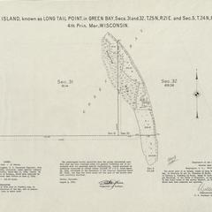 [Public Land Survey System map: Wisconsin Township 24 North, Range 21 East; Township 25 North, Range 21 East]