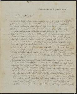 [Letter from Alois Roth and Kajetan to Jakob Sternberger, April 28, 1854]