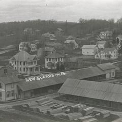 Lumberyard and houses, New Glarus