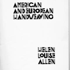 Title page from Helen Louise Allen's book : American and European hand weaving