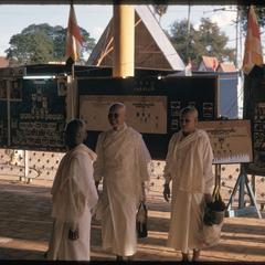 Monks at main vat : exhibit and nuns