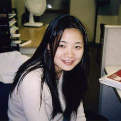 Female student sitting at desk