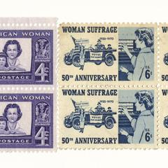 Woman suffrage stamps