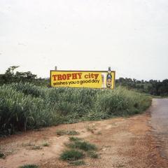 Billboard seen when leaving Ilesa