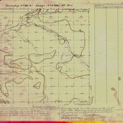 [Public Land Survey System map: Wisconsin Township 14 North, Range 05 West]