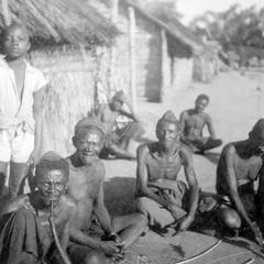 Elders, Including Village Headman, of Kuba-Bushong Village