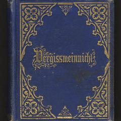 Vergissmeinnicht : oder Christliches Gedenkbuch