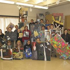 Art students and their art