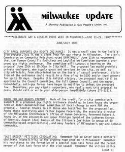 Milwaukee Update : June/July 1980