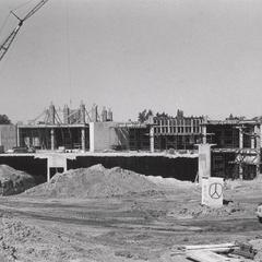 Construction of Library Learning Center (later David A. Cofrin Library)