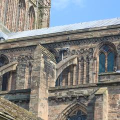 Hereford Cathedral chancel clerestory