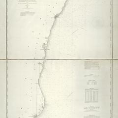 Lake Michigan coast chart no. 1. From Manitowoc to Portage