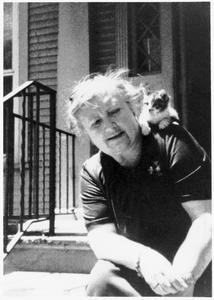 Helen Louise Allen with kitten