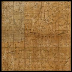 Spring Prairie Township plat map, 1857