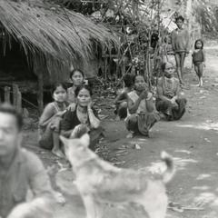 Refugees from Meun Hua Meung in the village of Nam Ho in Attapu Province