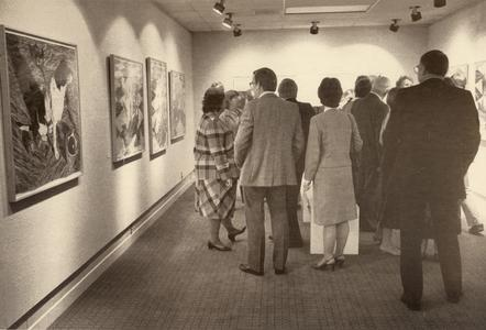 People in the art gallery, University of Wisconsin--Marshfield/Wood county