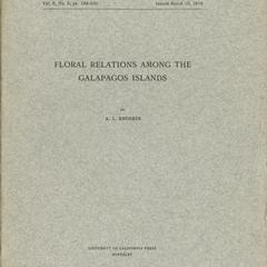 Floral relations among the Galapagos Islands