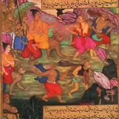 Rama Riding Piggyback on Hanuman