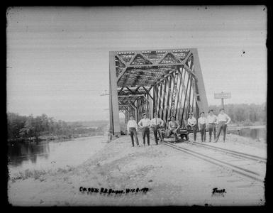 Ch. & N. W. R. R. Bridge. Wis. River
