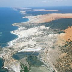 Aerial View of Eastern Coastline of Somalia and Indian Ocean