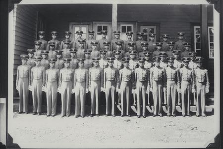 Members of the Second Battalion standing in uniform, Philippine Military Academy, Baguio