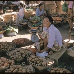 Morning market : fruits and vegetables