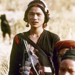 An Akha refugee woman from Burma in Houa Khong Province