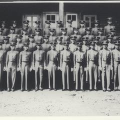 Members of First Battalion standing in uniform, Philippine Military Academy, Baguio