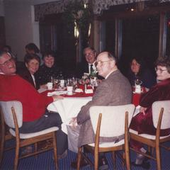 University council members at a dinner event