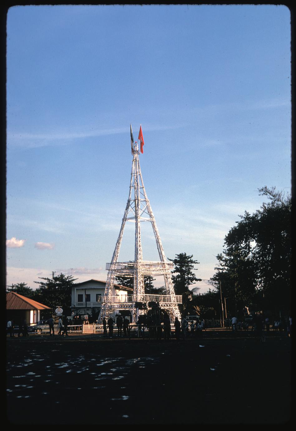 That Luang fair : French Eiffel Tower