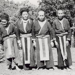 Four White Hmong women in Houa Khong Province