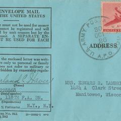 Blue envelope mail