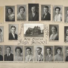 1934 New Glarus High School graduating class