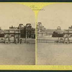 Place du Carrousel : vue prise des Tuileries