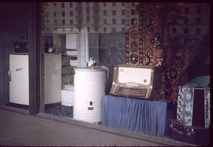 Window display of appliances
