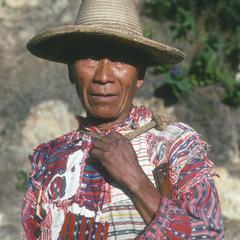 Man in Solalá dress at Lake Atitlán